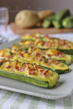 Zucchine farcite ricetta sfiziosa Statusmamma secondo contorno con verdure Giallozafferano foto blogGz ricetta cucinare tutorial