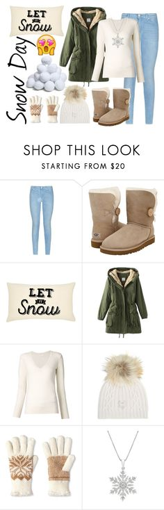 """IT'S SNOWING"" by gbraak ❤ liked on Polyvore featuring 7 For All Mankind, UGG Australia, Chloé, M. Miller, Isotoner, GetTheLook, snow, snowday, winterfashion and 2015"