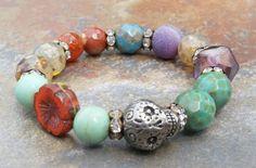 Day+of+the+Dead+Bracelet+stretch+bracelet+Dia+de+by+JewelitCouture