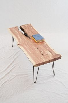 Reclaimed Cedar Slab COFFEE TABLE Avänt Gärd by ElpisWorks, $595.00