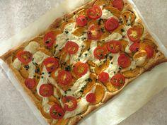 Plaatpizza met zoete aardappel, vegan