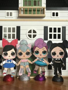 """Adorable LOL surprise Centerpiece. Would also be a great gift for your little ones room ❤️....you can choose this glitter dome base or a wood base (see my diva listing) 12"""" tall x 6"""" wide. If you would like a LOL doll you don't see listed ask me! I can make them all"""