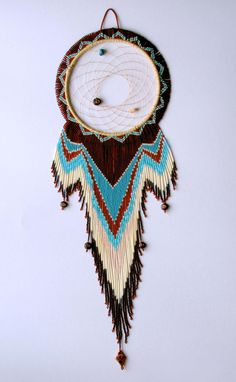 Beaded Dreamcatcher Wall Hanging - $385.00   by Betty John(Miawpukek First Nations community of Conne River, NL and Pictou Landing, Nova Scotia)