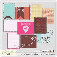 Everyday basic journal cards by Sugary Fancy at the Digichick