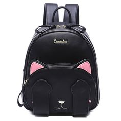 22.28 Cute Women s Backpack With Cat Pattern and Black Design Rucksack Bag 2f7bf276628e6