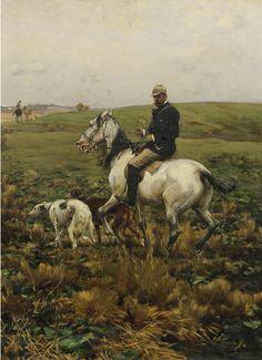 Alfred von Wierusz-Kowalski - Jäger mit Hunden