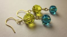Items similar to Neon glass and crystal art deco dangle drops on Etsy Dangles, Art Deco, Neon, Drop Earrings, Crystals, Trending Outfits, Unique Jewelry, Glass, Handmade Gifts