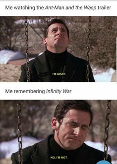 Ant man and the wasp takes place before infinity war on the Marvel timeline>>> yeah until the end scene it gets caught up Funny Marvel Memes, Avengers Memes, Marvel Jokes, Marvel Dc Comics, Marvel Heroes, Marvel Avengers, Memes 9gag, Loki, Spiderman