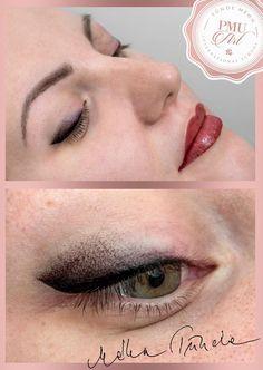 Healed combined eyebrow tattoo and a fresh misty eyeshadow :D