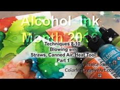 :) Links mentioned are below. In this video, I used Tim Holtz Alcohol Inks by Ranger Inks on Mohawk Glossy Cardstock with Joggles Ste. Alcohol Ink Crafts, Alcohol Ink Painting, Alcohol Ink Art, Ink In Water, Ranger Ink, Wax Paper, Ink Color, Colour, Copics