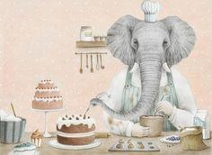 """1,233 kedvelés, 10 hozzászólás – Art_magister (@art_magister) Instagram-hozzászólása: """"#author Paolo Proietti @pallo_illustrations 🎨🎨🎨 #illustration from the #book """"La pasticceria…"""" Little Elephant, Illustration, Painting, Instagram, Cooking, Sweet, Art, Kitchen, Candy"""