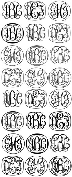 monograms!! Next tattoo!! Grayson initials