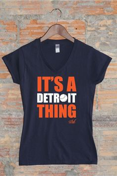 IT'S A DETROIT THING BASEBALL Edition available in Womens & Mens at www.InkDetroit.com