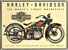 Harley Davidson 74 Big Twin Sign Ande Rooney Signs
