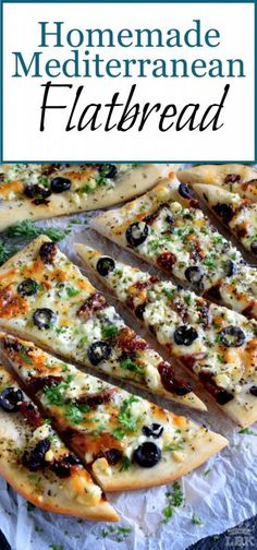 Could You Eat Pizza With Sort Two Diabetic Issues? Fast, Easy, And Delicious Homemade Mediterranean Flatbread-Style Pizza In Less Than Thirty Minutes Simply Change The Toppings To Suit Your Preferences Easy Mediterranean Diet Recipes, Mediterranean Dishes, Mediterranean Appetizers, Mediterranean Flatbread Recipes, Cooking Recipes, Healthy Recipes, Healthy Flatbread Recipes, Flatbread Appetizers, Flatbread Ideas