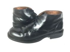 JOHNSTON & MURPHY Boots Mens 11 Black LEATHER Lace Up Shoes #JohnstonMurphy #AnkleBoots