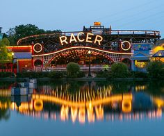 Racer roller coaster at Kennywood Park in Pittsburgh, PA