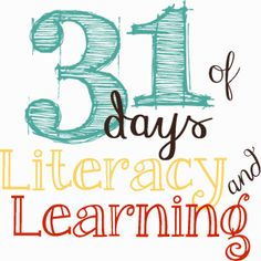 31 Days of Literacy & Learning - 3 bloggers give a book review & coordinate an activity with it - fun and fresh!