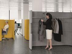 Coat rack / workstation screen DOCKLANDS Coat Rack by BENE design PearsonLloyd