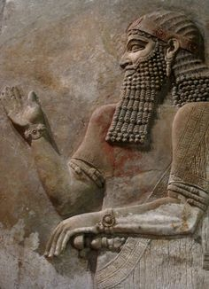 Relief from the Temple of Nabu in Khorsabad (Dur-Sharrukin), the capital of the Assyrian Empire. The remnants of the vivid colors painted on these walls can still be seen on this section. The Oriental Institute Museum at the University of Chicago, Chicago, IL. Photo by Babylon Chronicle