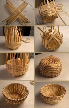 icu ~ See how to make a basket of jute with your own hands. ~ See how to make a basket of jute with your own hands. Bamboo Basket, Rope Basket, Bamboo Crafts, Wood Crafts, Diy Wood, Diy Home Crafts, Diy Arts And Crafts, Diy Para A Casa, Basket Weaving Patterns