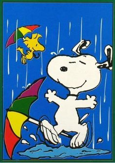 Snoopy and Woodstock Dancing In The Rain With Umbrellas Peanuts Cartoon, Peanuts Snoopy, Peanuts Comics, Peanuts Characters, Cartoon Characters, Charlie Brown Und Snoopy, Snoopy Und Woodstock, Charles Shultz, Hello Kitty Imagenes