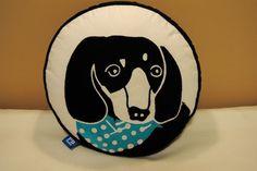 Pottery Barn Teen Dachshund Dog Round Decorative Pillow #PotteryBarn