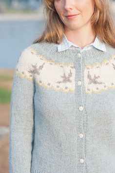 Birdie Fair Isle Cardigan by Hannah Fettig knitting pattern $6.00 on Ravelry at http://www.ravelry.com/patterns/library/birdie-fair-isle-cardigan