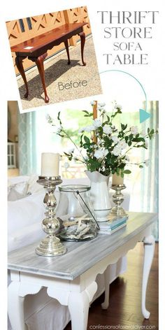 Check out this amazing diy furniture polish - what an inspired type # refurbished Furniture White Washed Sofa Table Diy Furniture Polish, Diy Furniture Easy, Refurbished Furniture, Repurposed Furniture, Rustic Furniture, Furniture Decor, Antique Furniture, Furniture Stores, Cheap Furniture
