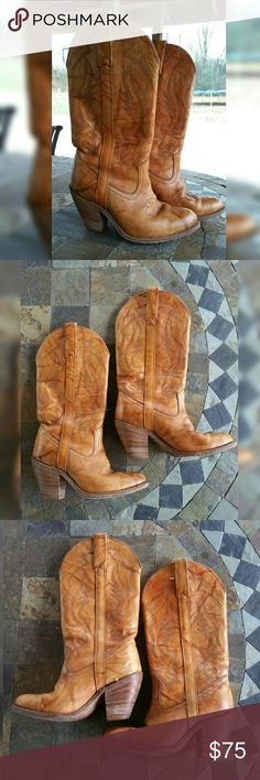 SIZE 7 WESTERN COWBOY COWGIRL BOOTS Miss CAPEZIO Beautiful leather western boots. Perfect for a night out , dress up or just to have!!   Size 7  Signs of use/normal wear   Please see pictures for condition  Small marks/rubs/indentations as shown.   No major damage.   Please ask questions before buying.   No returns  All sale final. miss capezio Shoes