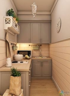 53 design ideas for small kitchens that redesign the layout 53 Small Kitchen Design Ideas That Reshape the Layout Design beautiful little kitchen design ideas for your little Beautifu. Kitchen Sets, Home Decor Kitchen, Interior Design Kitchen, Country Kitchen, Home Kitchens, Micro Kitchen, Remodeled Kitchens, Small House Interior Design, Small Apartment Kitchen