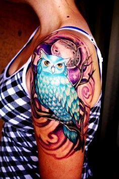 Owl Skull Tattoo on Arm for Guy | DIY Arm Tattoos