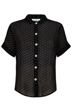 The Sheer Shirt - Black Pinspot | Tara Starlet