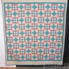 Country Cottage 1930s Humming Bird Patch Antique Quilt Pink Green 86 x 80 | eBay