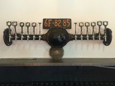 www.tappedbeer.com Custom draft beer tower Mid-process of what will be a back end of an old pickup truck draft system. Tires, working brake lights being added this week. #tappedbeer #hudsonbrewingcompany