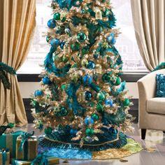 peacock tinsel tree my 2012 Christmas theme!