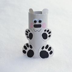 DIY Children's : DIY Cardboard Tube Polar Bear