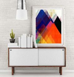 Enjoy decorating with this Modern mid century, retro art, mod art, eames, geometric art, circles, modern painting, abstract painting, mid century modern, office artAbstract Art No. 04