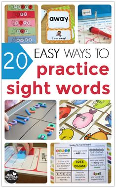 20 Easy Ways to Practice Sight Words Teaching Sight Words, Sight Word Practice, Sight Word Games, Reading Help, Reading At Home, Reading Skills, Reading Tips, Teaching Reading, Sight Word Readers