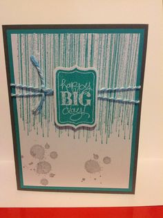 Gorgeous grunge, baker's twine  - masculine card, or other