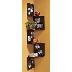 cool corner picture shelf