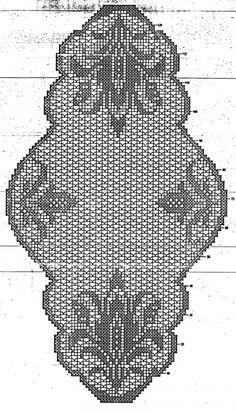 Mary Heklani Radovi I Sheme 124 Blackwork Patterns, Crochet Stitches Patterns, Doily Patterns, Crochet Designs, Filet Crochet Charts, Crochet Diagram, Crochet Motif, Crochet Doilies, Crochet Table Runner Pattern