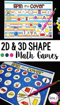 FREE printable games for teaching 2D and 3D shapes with real life objects