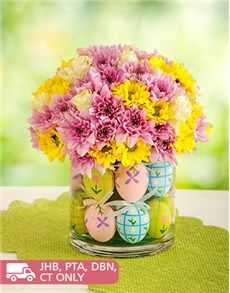 Easter - Flowers and Gifts: Hippity Hoppity Easter Blooms! Online Florist, Easter Flowers, Online Gifts, Mind Blown, Glass Vase, Bloom