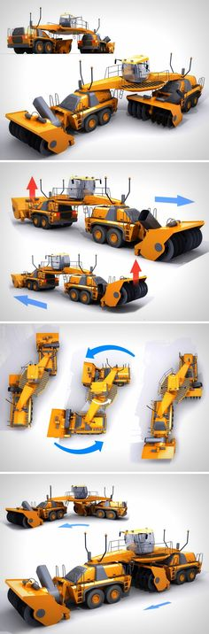 Double the snow, Half the time! Construction Machines, Snow Plow, Transportation Design, Future Car, Heavy Equipment, Concept Cars, Product Design, Industrial Design, Sci Fi