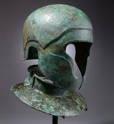 Samnite Bronze Helmet and Neckguard, C. 450 BC