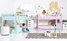 Kids Space as seen in Practical Parenting, Home Beautiful and Better Homes and Gardens. 'My Place' Bunk in new season colours!