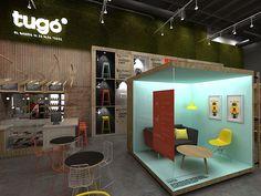 Tugó Concept Store (propuesta) on Behance Trendy Furniture, Cool Furniture, Furniture Design, Furniture Online, Discount Furniture, Showroom Interior Design, Furniture Showroom, Exhibition Booth Design, Showcase Design