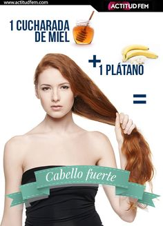 1 plátano + 1 cucharada de miel (por 15-20 minutos)= cabello fuerte y sano. Face Hair, Your Hair, Beauty Skin, Hair Beauty, Hair Repair, Beauty Recipe, Grow Hair, Pretty Hairstyles, Hair Hacks