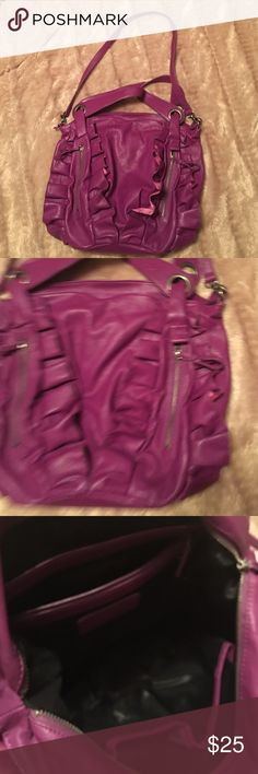 Beautiful purple colored Jessica Simpson Bag Multiple compartment handbag with unique coloring.  Note slight flaking of color at top of bag, see photo. Jessica Simpson Bags Hobos